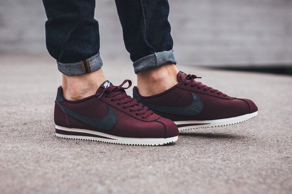 Exotic Details & Night Maroon Cover This Nike Cortez