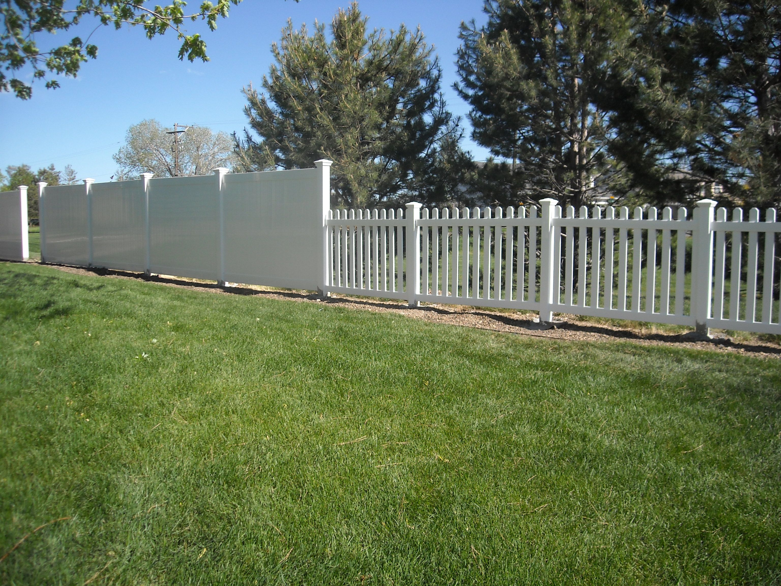 Vinyll Fence Panels And Posts Covers Fences Garden And
