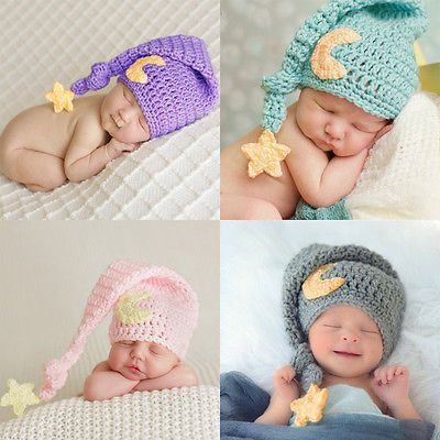 834aaae93 Newborn Baby Girl Beanies Crochet Longtail Elf Hat Costume ...