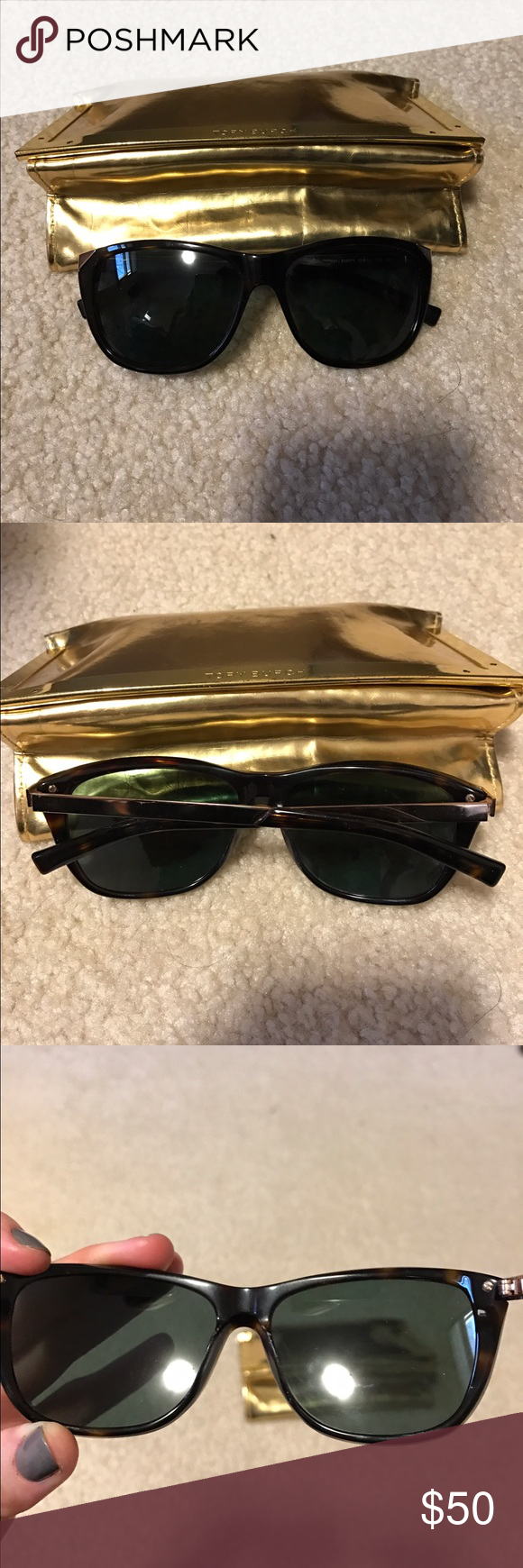 Tory Burch Wayfarer Sunglasses Good condition sunglasses, only worn for a few months. Comes with case. Tory Burch Accessories Sunglasses