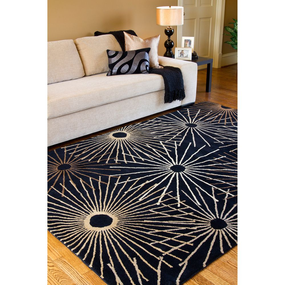 Hand Tufted Brown Contemporary Singapore Wool Abstract Rug 9 X 12