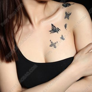 Pin By Selena Young On Grocery Health Beauty Tattoos For Women Lace Butterfly Tattoo Chest Tattoo