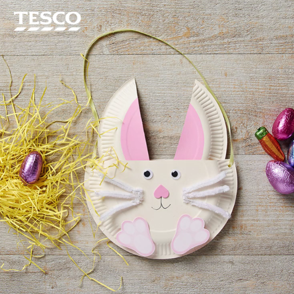 Create diy easter baskets with paper plates glued together to make a create diy easter baskets with paper plates glued together to make a pouch accessorise with negle Image collections