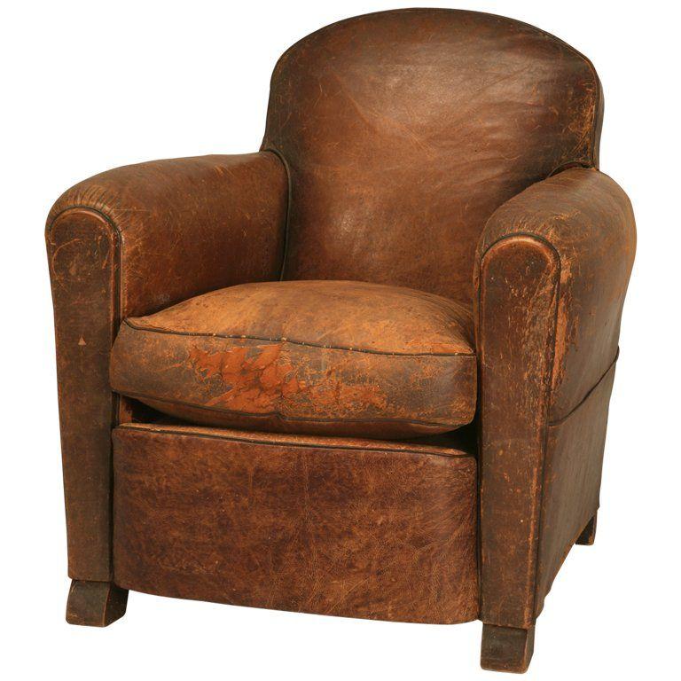 Merveilleux Vintage Leather Club Chair