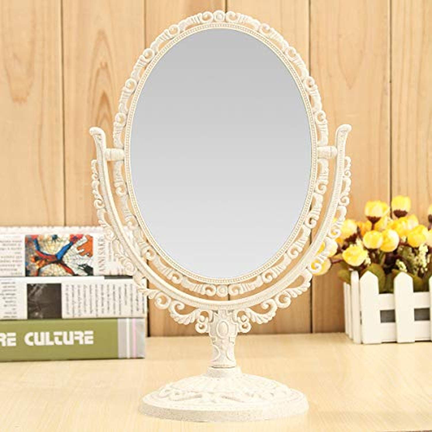 Desktop Double Sided Makeup Rotatable Mirror Oval Round Heart Shaped Cosmetic Mirrors Home Decor Makeup Tools Mirrors 03 1 X Mirror Check This Awesom