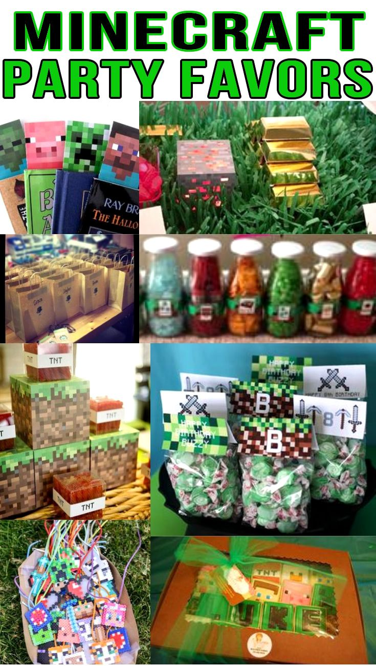 Minecraft Party Favor Ideas Find minecraft Minecraft party favors