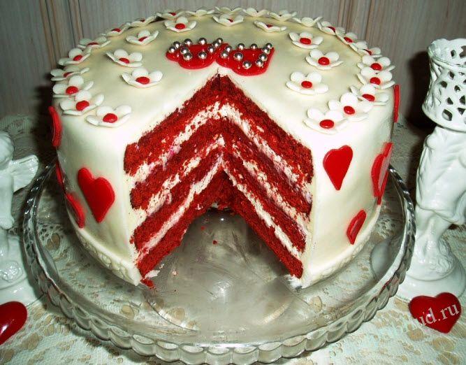 Торт красный бархат (с изображениями) | Десерты, Торт ...
