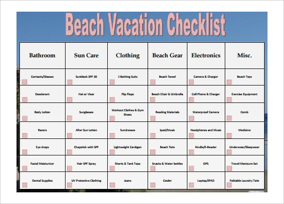 Checklist Template   Free Word Excel Pdf Documents Download