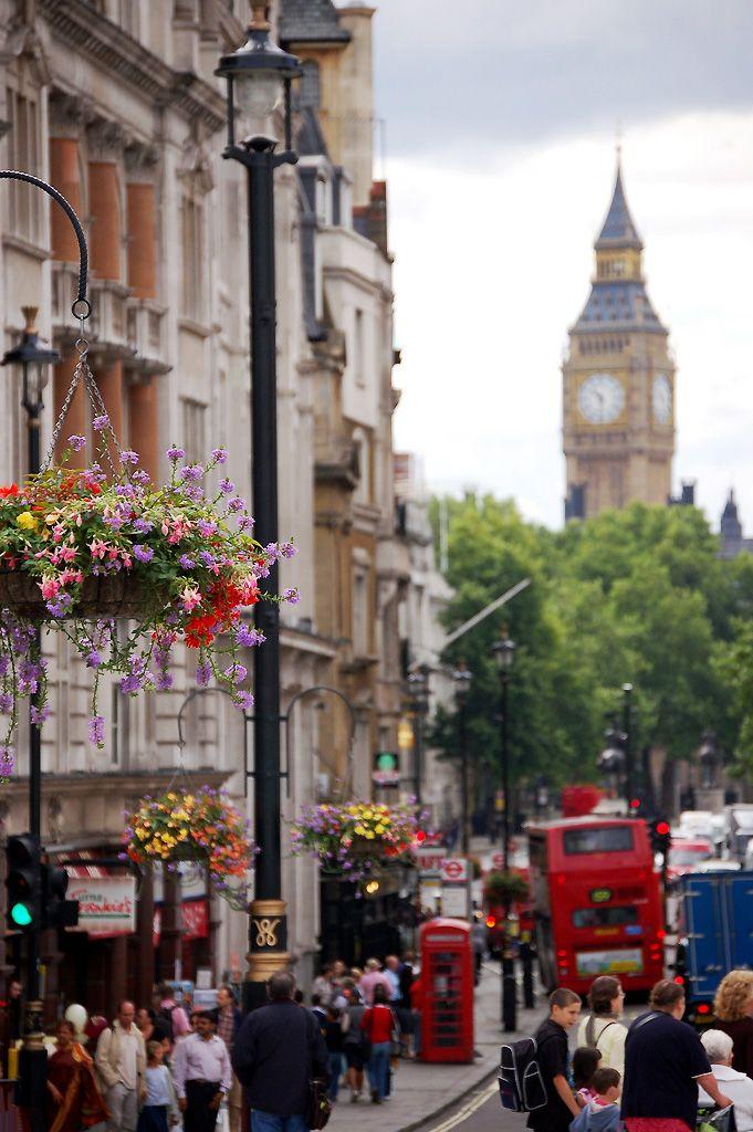 London - view of Big Ben from Trafalgar Square