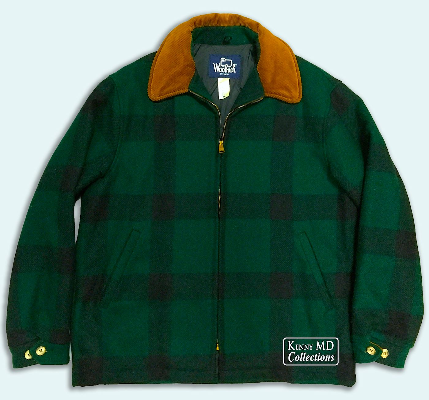 80's Model Woolrich Green Plaid Jacket