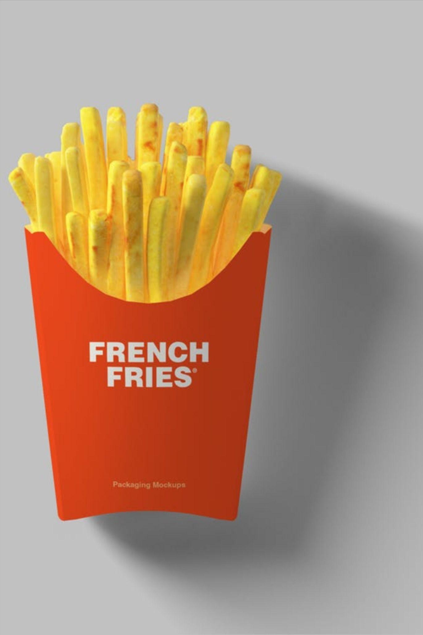 Download Fries Packaging Mockup Fries Packaging Packaging Mockup French Fries