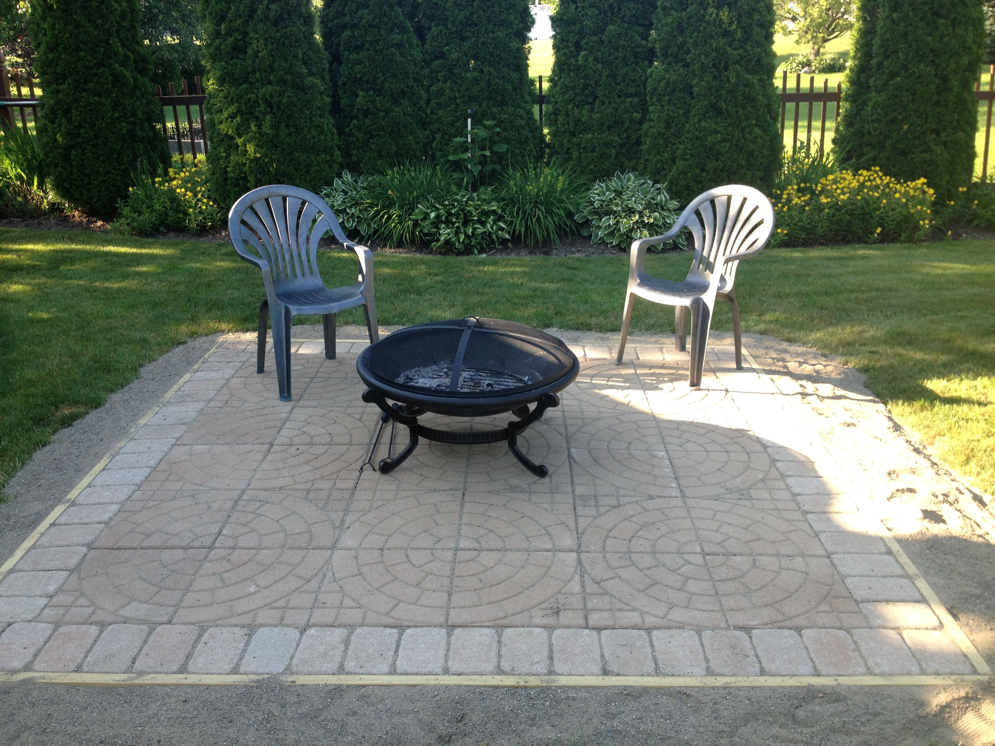 New Fire Pit Patioeasy With 16 X 16 Circle Pattern