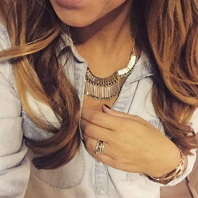 Stella & Dot | Twilight Fringe Necklace | Tricia Martin Independent Stylist | Shop link in my profile ♡