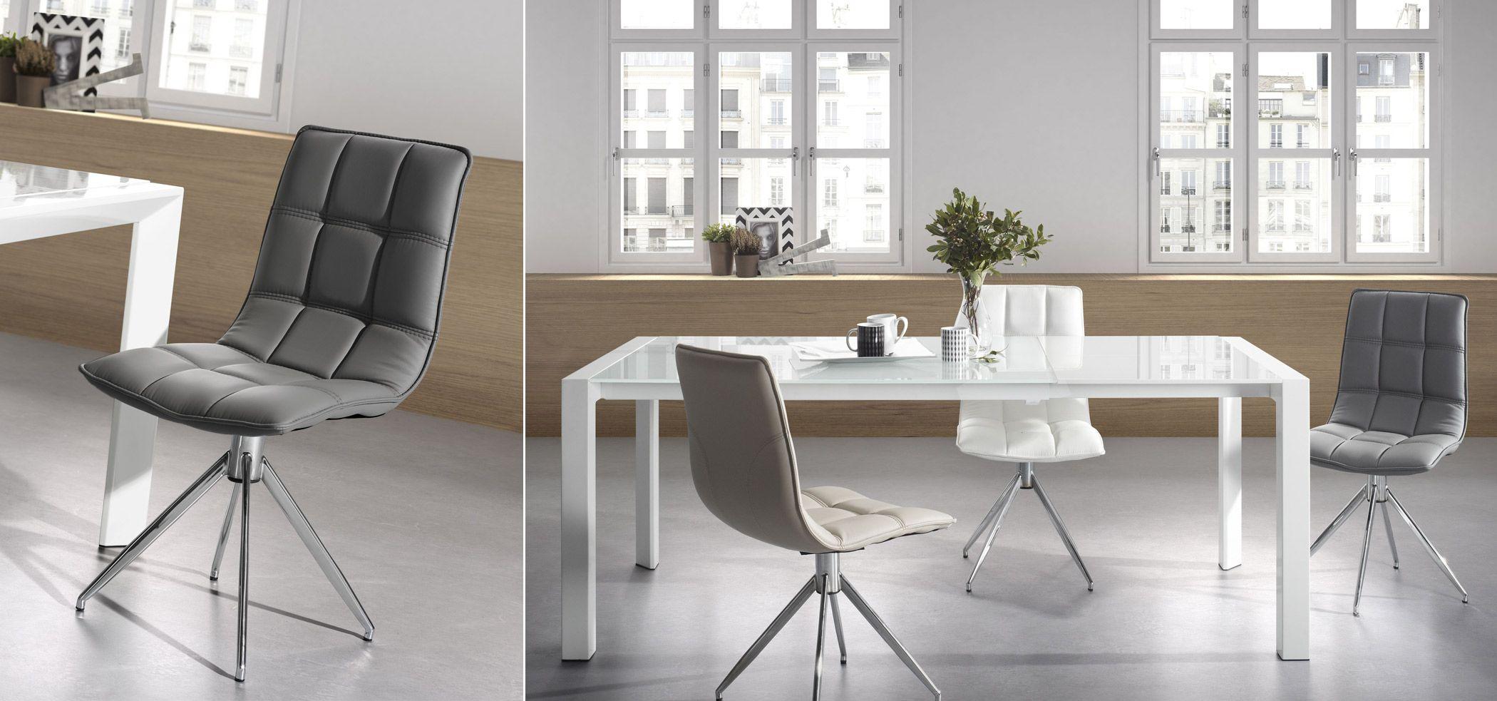 Table Extensible Kara 160 220 Cm Blanc Idees Pour La Maison