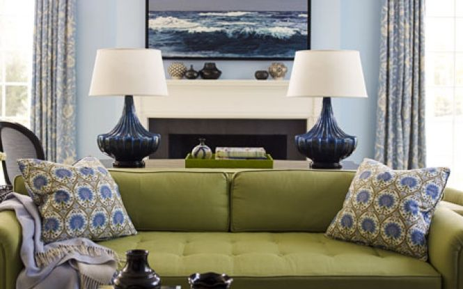 Pin By Megan Arlin On Room Ideas Color Ideas Blue And Green Living Room Green Couch Living Room Living Room Green