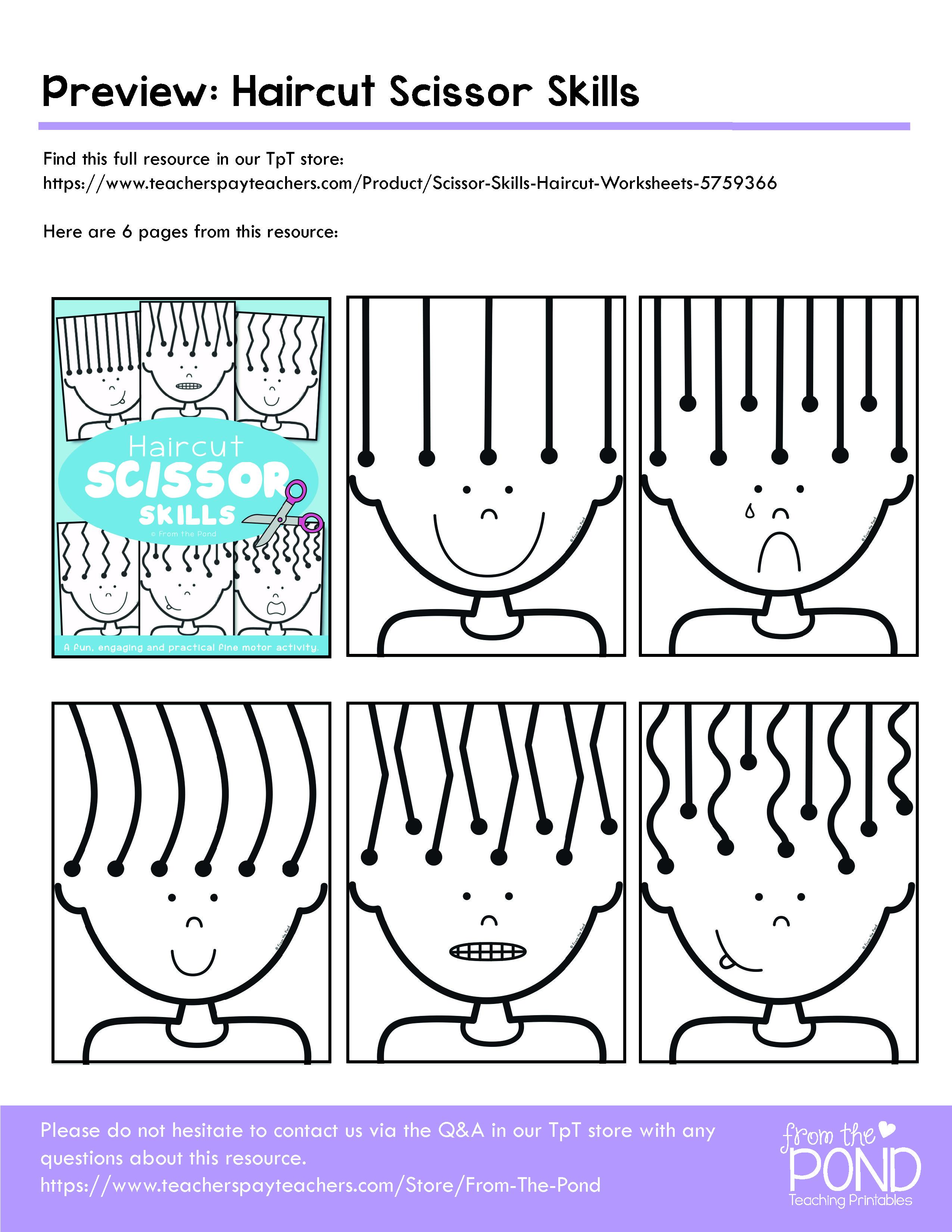 20+ Kindergarten cutting practice Wonderful