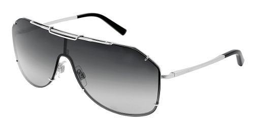 1bdb442811 Dolce & Gabbana Eyewear: modelo 2112 - Colección de gafas de sol de hombre.  Montura tipo máscara plateada con lentes grises.