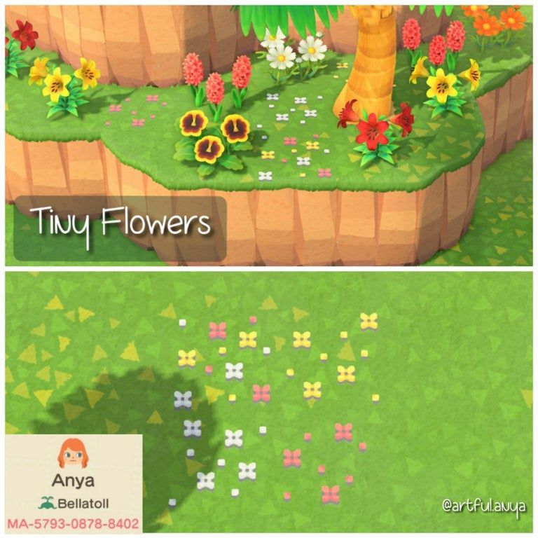 Made Some Tiny Flowers To Give A Little Bit Of Color To The Grass