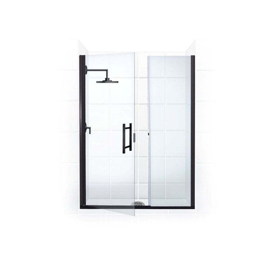 Shop Coastal Shower Doors Illusion 45.75-in to 47-in Oil-Rubbed ...