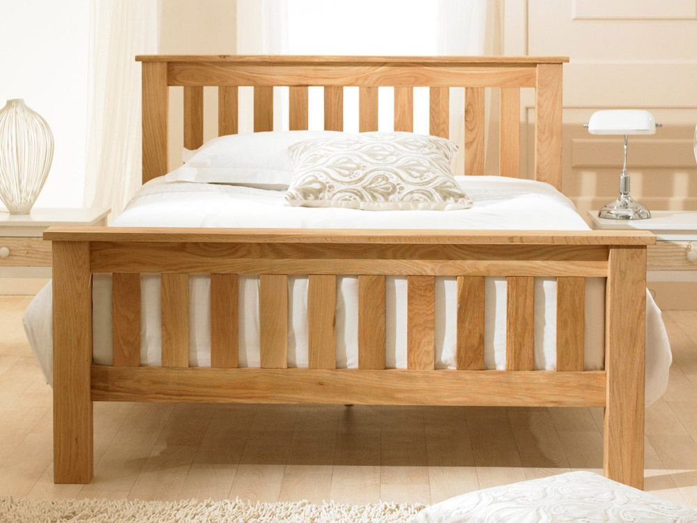 Richmond Chunky Oak King Size Bed Oak Bed Frame Oak Beds