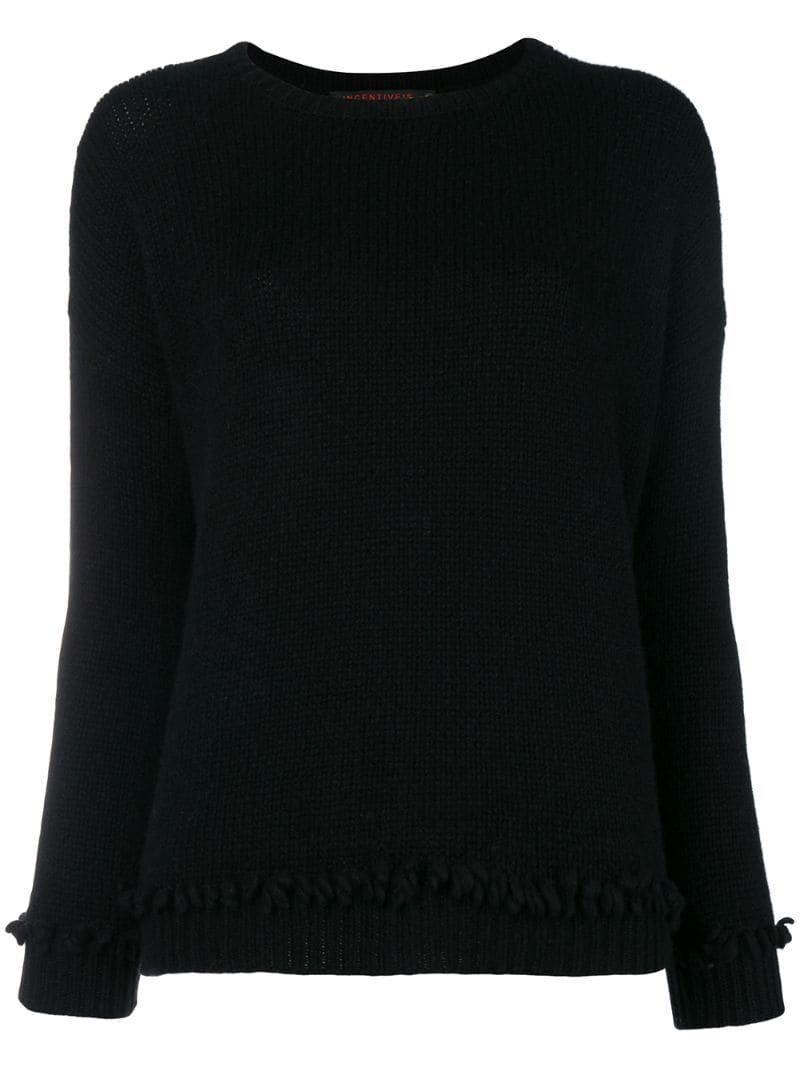 Incentive! Cashmere cashmere chunky knit jumper - Black #chunkyknitjumper