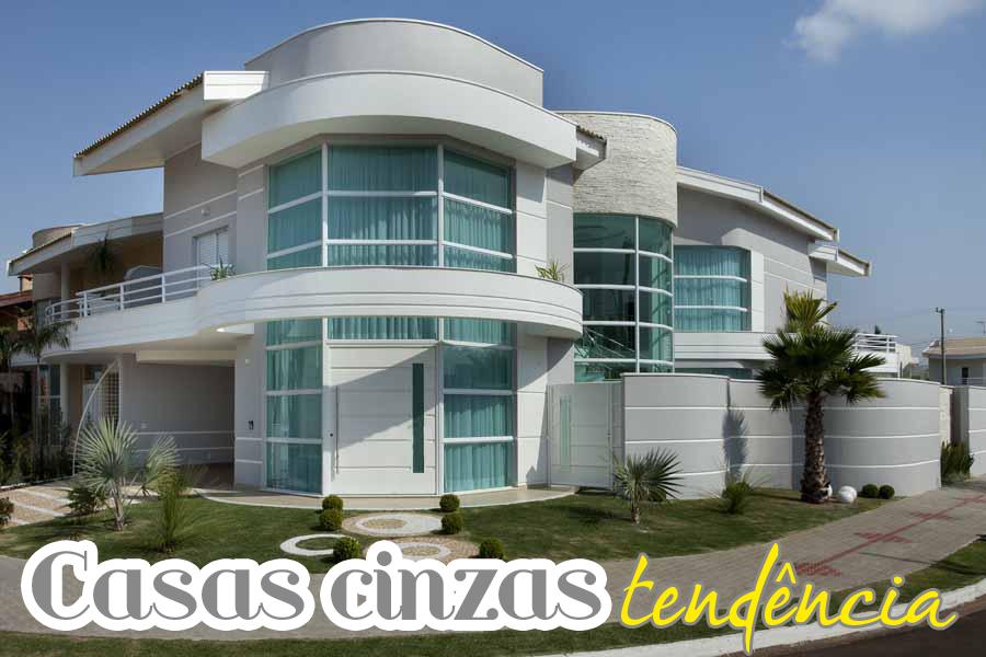 30 fachadas de casas modernas e cinza a cor do momento for Exterior de casas