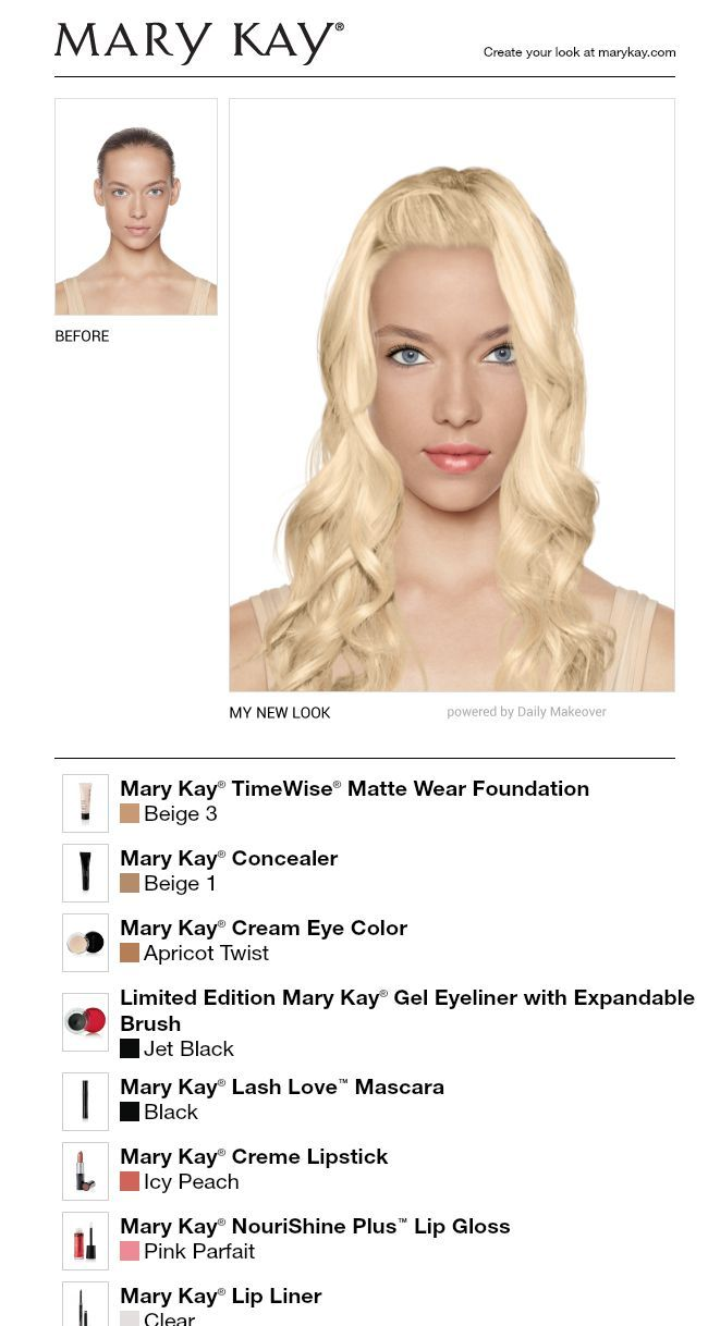 I just got a great new look using the FREE Mary Kay® Virtual ...