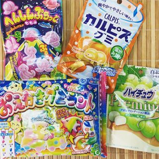 Gummy candies from Japan