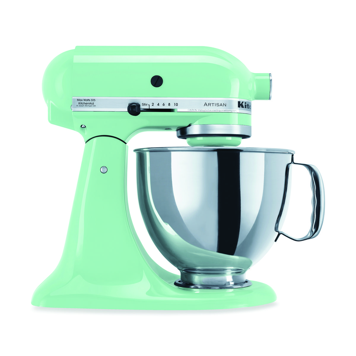 How can you NOT register for a KitchenAid Stand Mixer?  (We like the retro-looking green apple.)