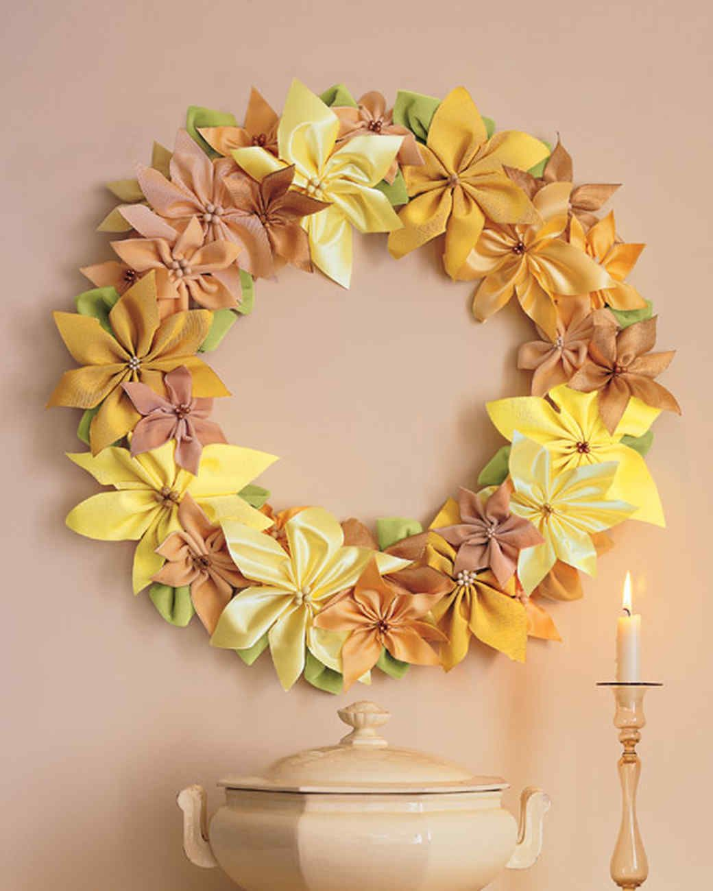 Ribbon-Poinsettia Wreath | Poinsettia, Martha stewart and Wreaths