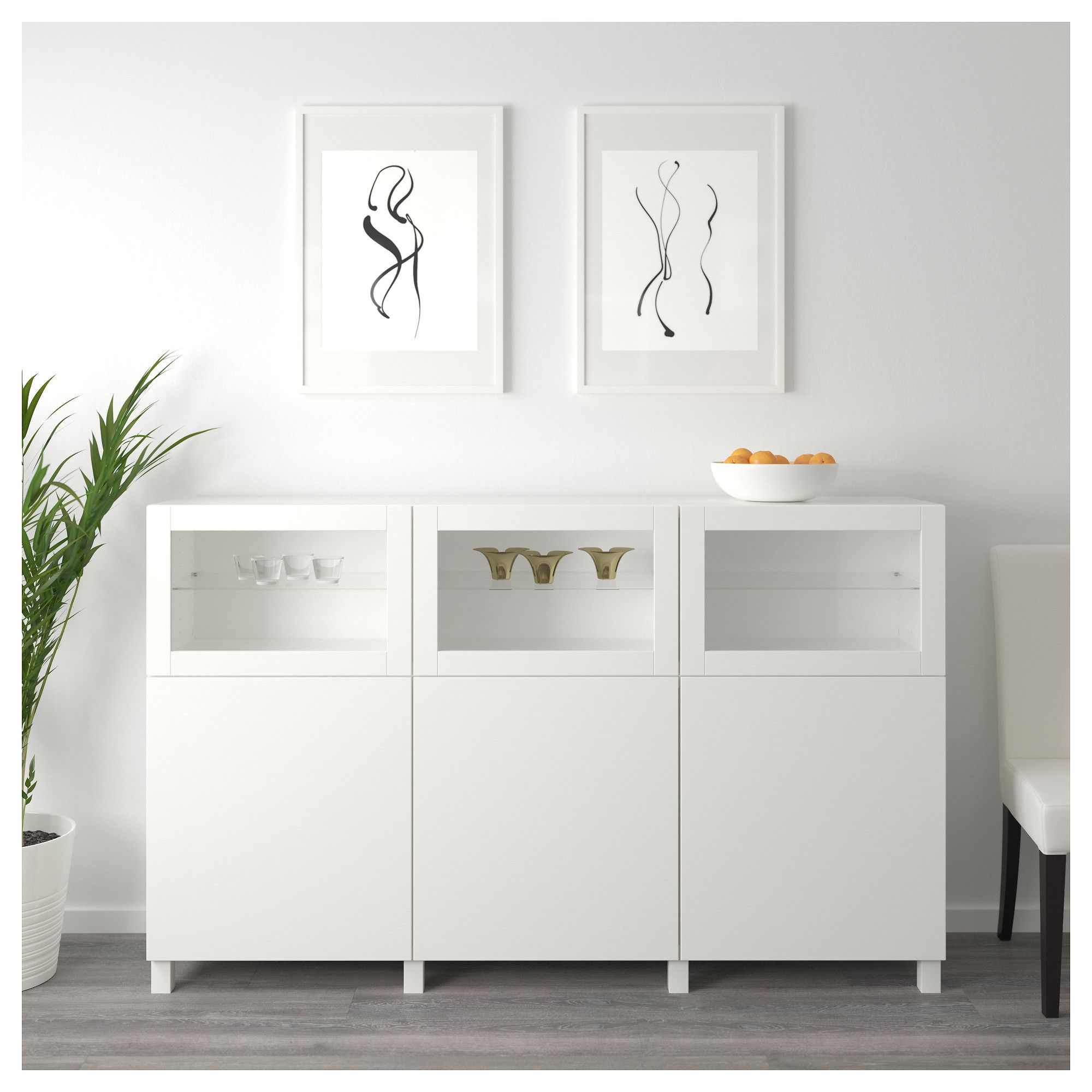 Ikea bookcase with glass doors  IKEA  BESTÅ Storage combination with doors white Lappviken Sindvik