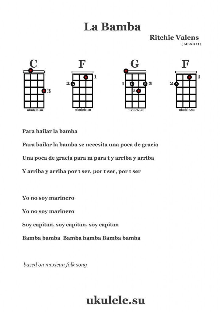 LA BAMBA | ukulele | Pinterest | La bamba and Guitars