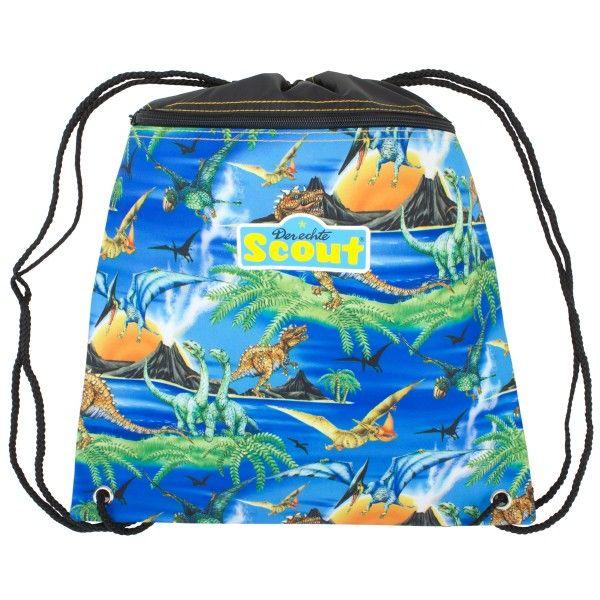 Scout Dino drawstring bag at alexandalexa.com