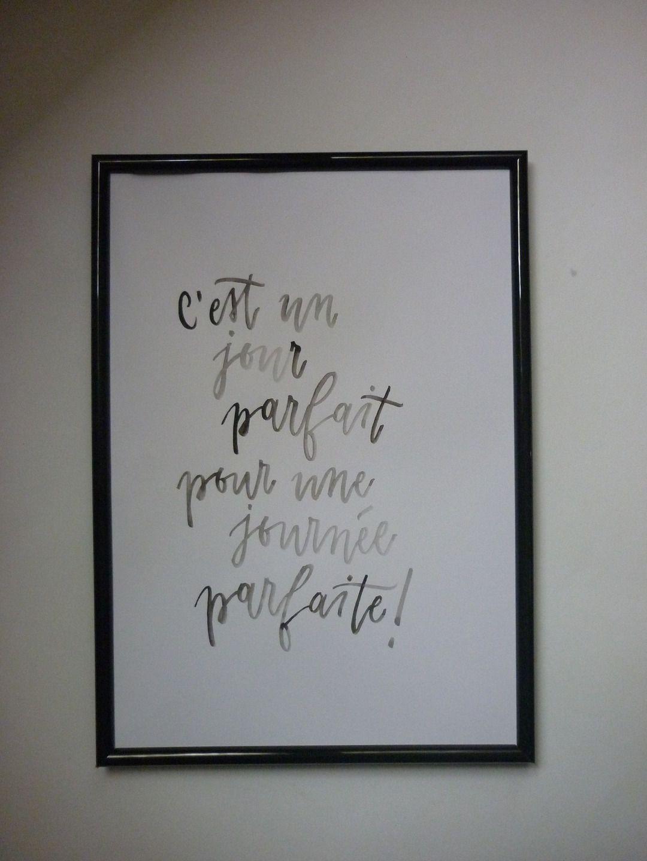 affiche calligraphie imprimer d coration murale perso pinterest jolis mots quote. Black Bedroom Furniture Sets. Home Design Ideas