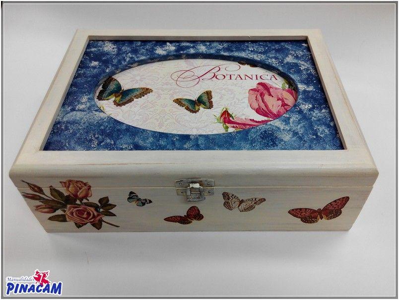 Caja decorada con decoupage por esperanza manualidades - Caja madera manualidades ...