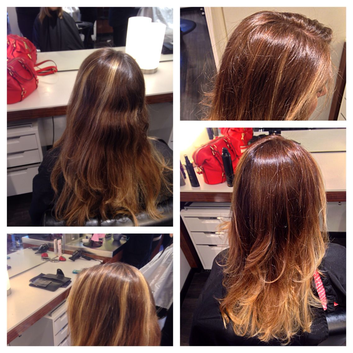 Before Grown Out Foil To After Balayage Ombre