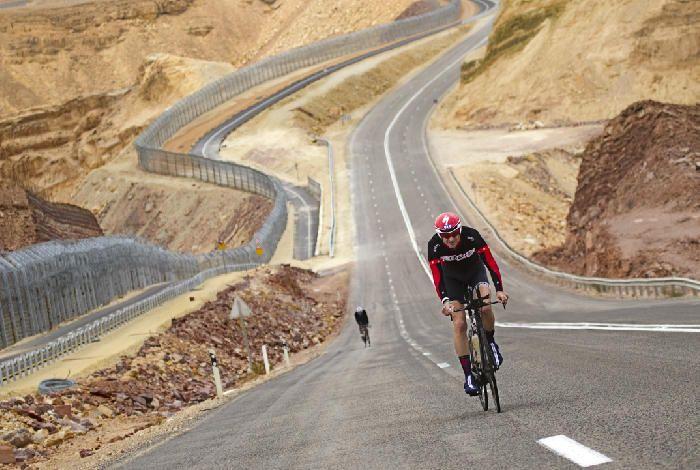 Israman Triathlon along the border between Israel and Egypt