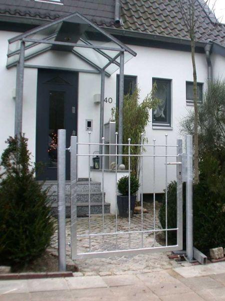 Gartentur Aus Feuerverzinktem Stahl Gartenturen Garten Gartentor
