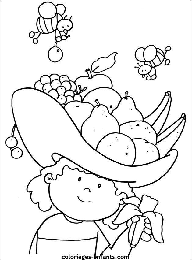 Kleurplaten Fruitmand.Afbeeldingsresultaat Voor Kleurplaat Fruit Thema Fruit Gezond