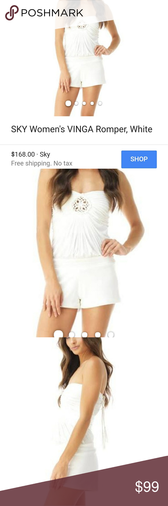 New Sky Romper Nwt, Sky Romper, very light cream color size small. Perfect unworn condition. Retail 168 Sky Other