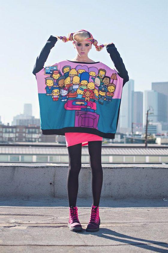 ae13e1789e Marca de roupas mescla Os Simpsons + Hello Kitty. E o resultado é ...