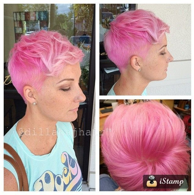 28 Short Hair Ideas for Women | Pink haircut, Short hair and Haircuts