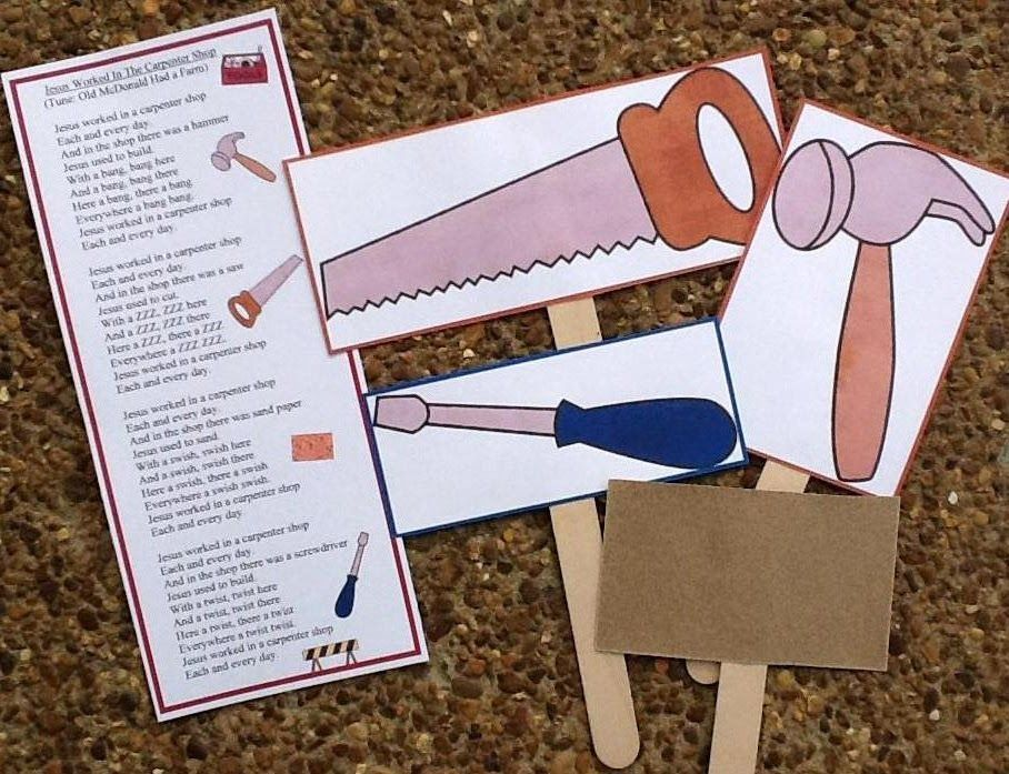Worked In The Carpenter Song Printables Pictures To Color For Pre