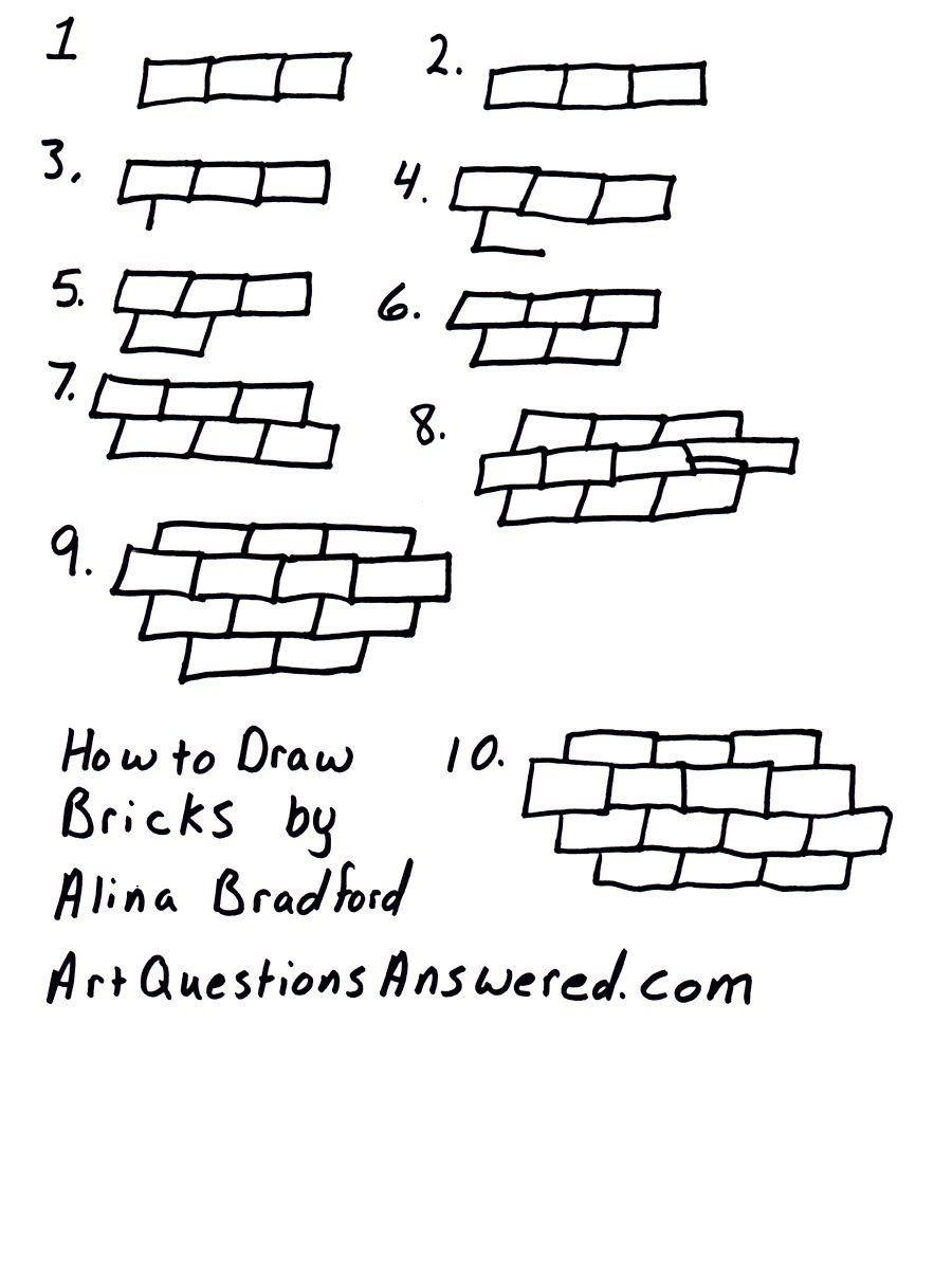 How To Draw Bricks Or A Brick Wall Great For Backgrounds
