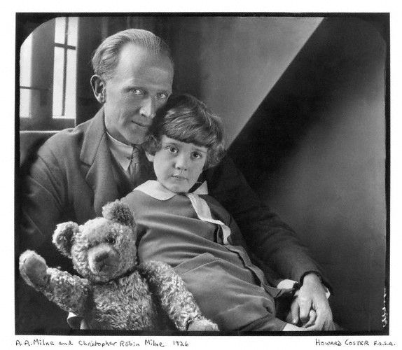 A A Milne Christopher Robin Milne And Pooh Bear Goodbye