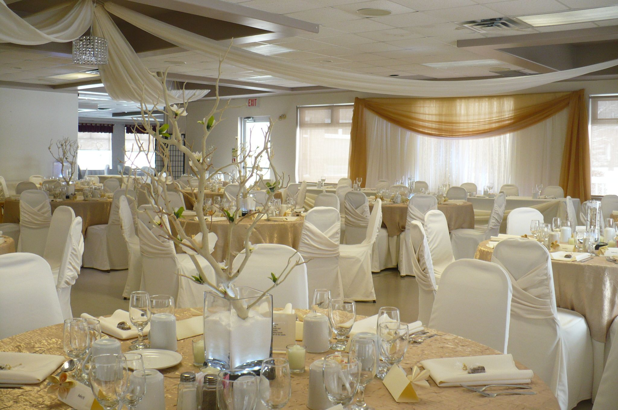 Wedding decoration ideas for hall  Baldoon Golf Club Forest  Kristen and Mikeus wedding decor