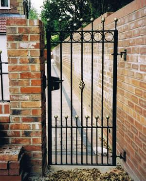 Wrought Iron Single Gates Google Search Wood Fence