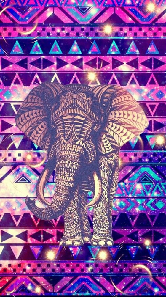 Wallpaper Lockscreen Hipster Cell Phone Wallpapers Elephant Cute Pink Girly Art Atlas Backgrounds