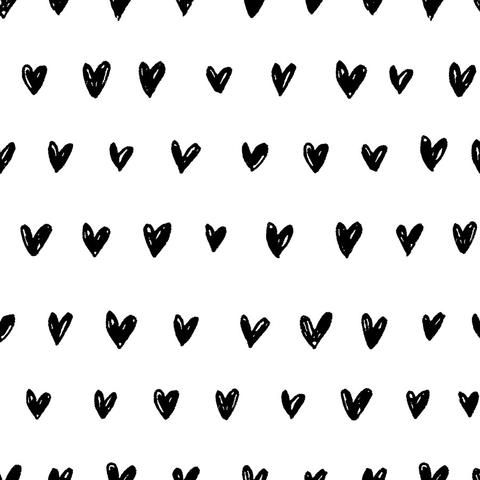 Self Adhesive Removable Wallpaper Heart Wallpaper Black And White Heart Black And White Wallpaper