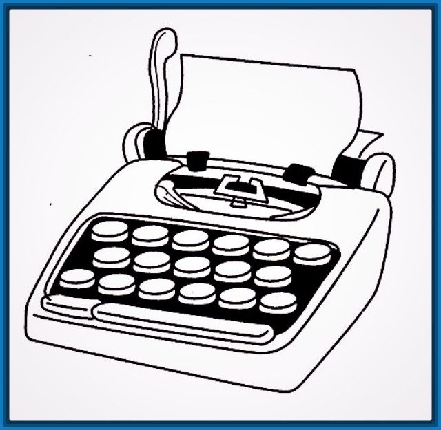 Resultado De Imagen Para Dibujos A Maquina De Escribir Facil Dibujos De Maquinas Maquina De Escribir Escribir